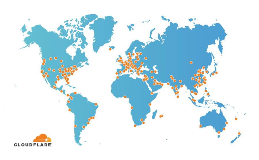 Cloudflare server nel mondo